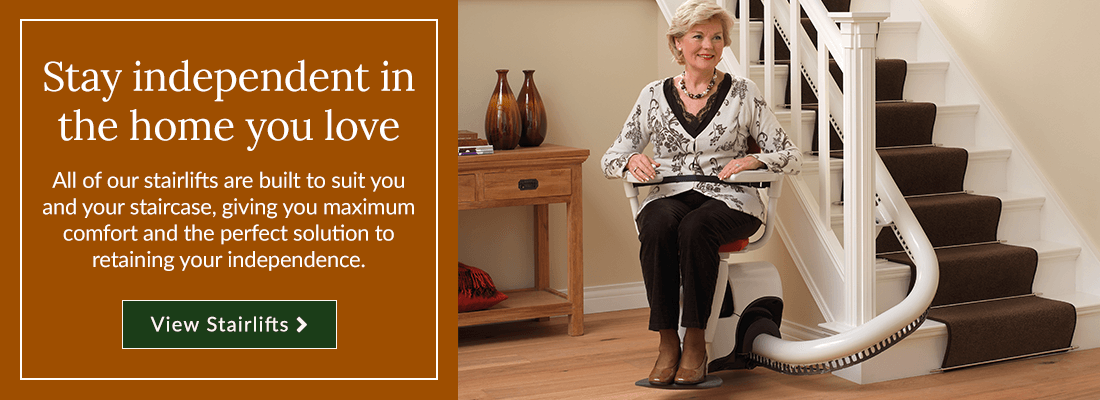 All of our stairlifts are built to suit you and your staircase, giving you maximum comfort and the perfect solution to retaining your independence.