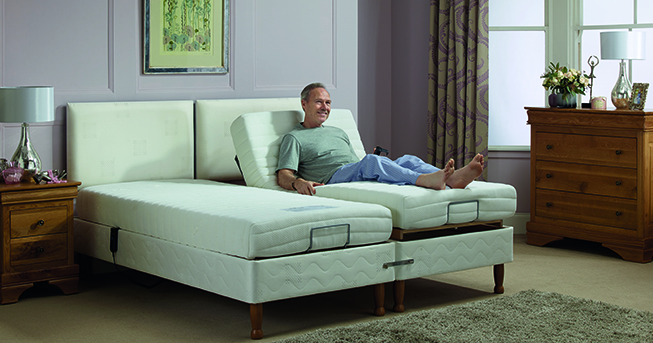 Having an adjustable bed will help you sleep if you have a bad back.
