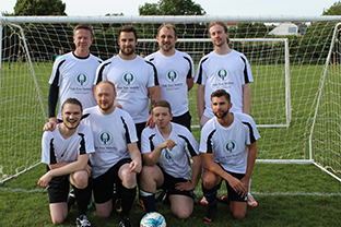 Image of the Oak Tree Mobility charity football team