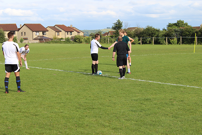 Image of the Oak Tree charity football match