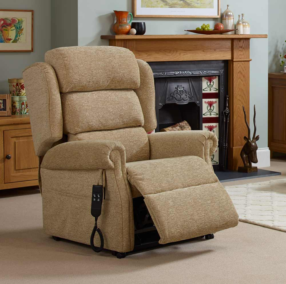 Waterfall chair back for a rise and recliner chair by Oak Tree Mobility