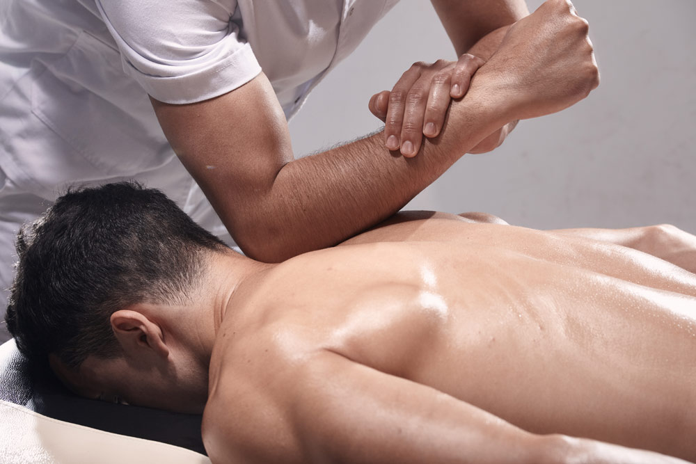 Man receiving a sports massage