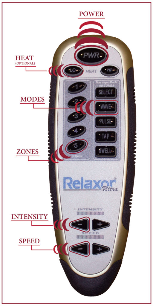 The heat and massage handheld controller for our rise and recline chairs