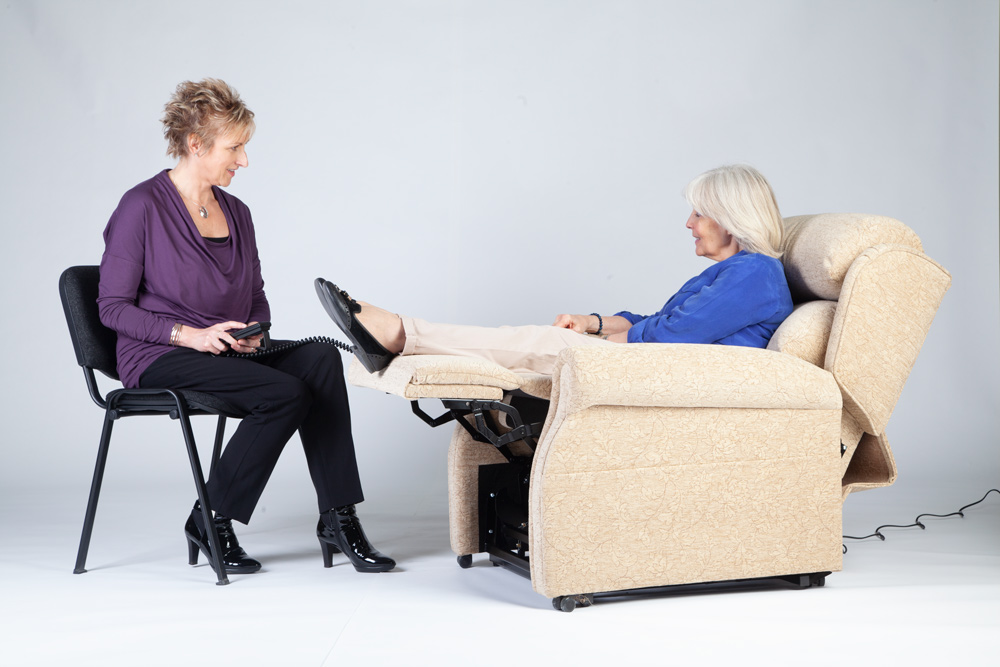 Occupational therapist approved oak tree rise and recline chairs