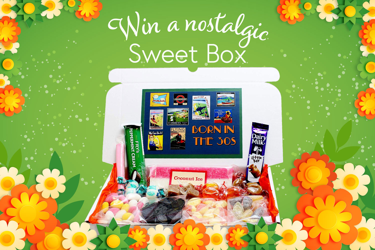 Win a nostalgic sweet box from oak tree